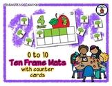 Apple - Ten Frame Mats 0 to 10 & Counter Cards