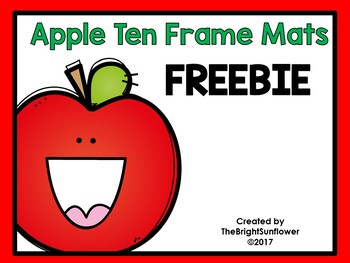 Apple Ten Frame Mats FREEBIE
