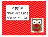 Mini Eraser Apple Ten-Frame Mats Numbers 1-20