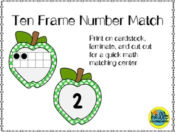 Apple Ten Frame Number match
