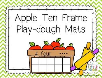 Apple Ten Frame Play-Dough Mats