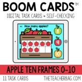 Apple Ten Frames 0-10 BOOM CARDS™