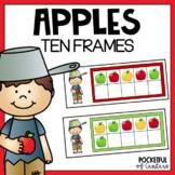 Apple Ten Frames Using Mini Erasers