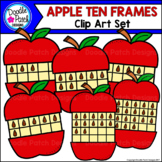 Apple Ten Frames Clip Art Set - Doodle Patch Designs