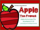 Apple Ten Frame Math for Numbers 0-10 (Ink Friendly and Full Color)