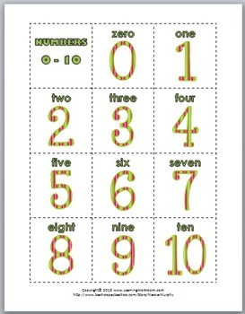 Ten Frames Matching - Numbers 1-10 & Numbers 11-20