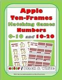 Ten Frames Activities Number Cards 0-20 - Apple Theme