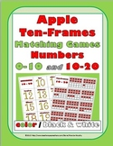 Ten Frames Number Cards 0-20 - Apple Theme