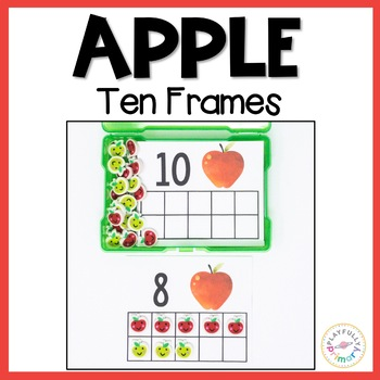 Apple Ten Frames   Mini Eraser Math Activity