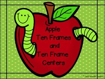 Apple Ten Frames and Ten Frames Centers