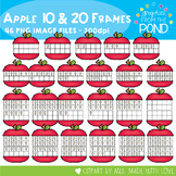 Apple Ten and Twenty Frame Clipart