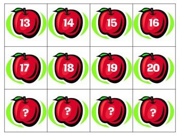 Apple Tens Frame Building numbers 1-20