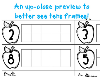 Apple Tens Frame - Number Sense (1-10)