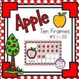 Apple Theme Counting 10 Frames ( Numbers 1 - 20 ) - Complete & Blank Sets