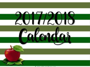 Apple Theme 2017-2018 Calendar/Planner