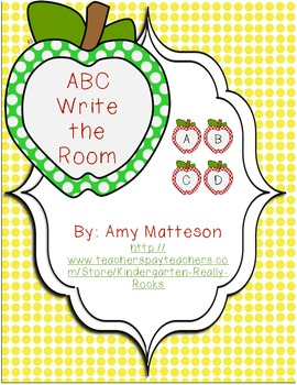Apple Theme ABC Write The Room