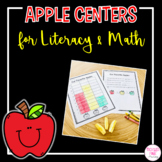 Apple Centers for Kindergarten Math and Literacy