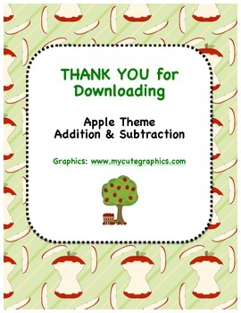 Apple Theme - Addition & Subtraction