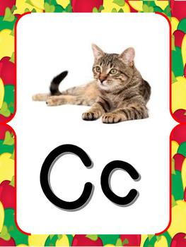 Apple Theme Alphabet Posters