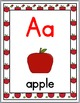 Apple Theme Classroom Decor Alphabet Posters