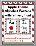 Apple Theme Classroom Decor Alphabet Posters