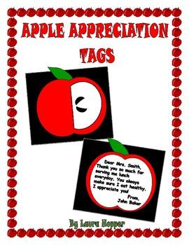 Apple Theme Appreciation Card/Gift Tag Craft