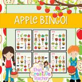 Apple Theme BINGO! (For Pre-K & Kindergarten Classrooms)