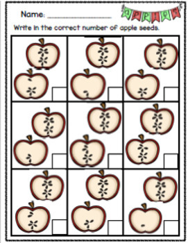 Apple Theme Differentiated Activities and Worksheets