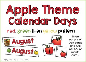 Apple Theme Calendar Day Cards