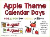 Apple Theme Calendar Day Cards