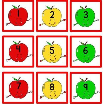 Apple Theme Calendar Set (English and Spanish included!)