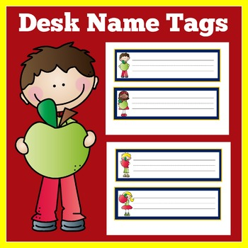 Apple Theme Classroom | Apple Themed Back to School | Desk Name Tags | Plates