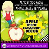 Apple Theme Classroom Decor EDITABLE (Apple Classroom Theme Decor)