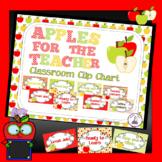 Apple Theme Classroom Decor Clip Chart - Editable