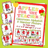 Apple Theme Classroom Decor Print Alphabet & Numbers to 20