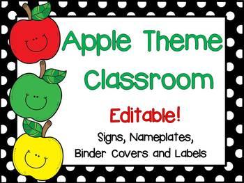 Apple Theme Classroom {Editable}