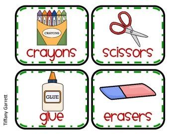Apple Theme Classroom Labels