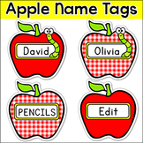 Apples Theme Labels and Name Tags