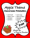 Apple Theme Classroom Printables
