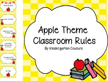 Apple Theme Classroom Rules