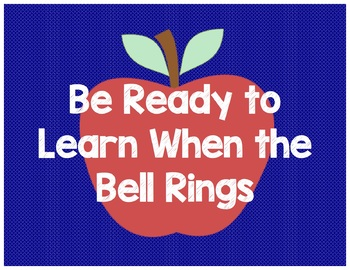 Apple Theme Classroom Rules Posters