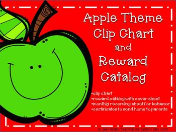 Apple Theme Clip Chart and Reward Catalog