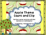 Apple Theme Count and Clip numbers 1-20 Common Core Aligned