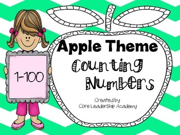 Apple Theme Counting Numbers~ 1-100