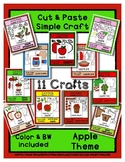 Apple Theme Craft Set - Cut & Paste Crafts  Super Easy for