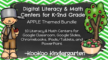Apple Theme-DIGITAL LITERACY & MATH CENTERS