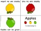 Apple Theme Foldable Early & Emergent Readers ~Set of 7~  Color & B&W Included