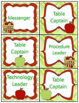 Apple Theme Job Labels