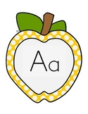 Apple Theme Letters and Numbers for the Classroom