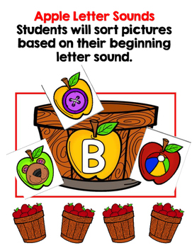 Apple Theme Literacy and Math Centers